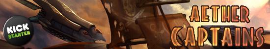 Aether Captains Board Game on KickStarter
