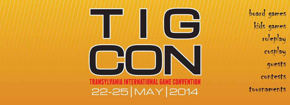 TIG Con 2014 – Primul targ international de board games, card games si role play din Romania